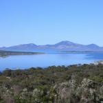 Up on Vinegar Hill, Mount Munro on Cape Barren Island beckons across Franklin Sound's calm waters.